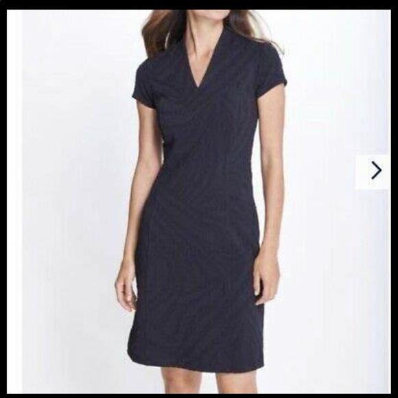 J.McLaughlin little black dress with zebra pattern